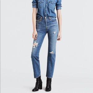 Levi's 501 straight leg jeans in time lapse 25x32